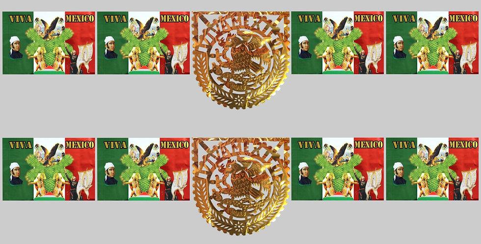 Enramada impresa c/escudo 1/4 papel metálico