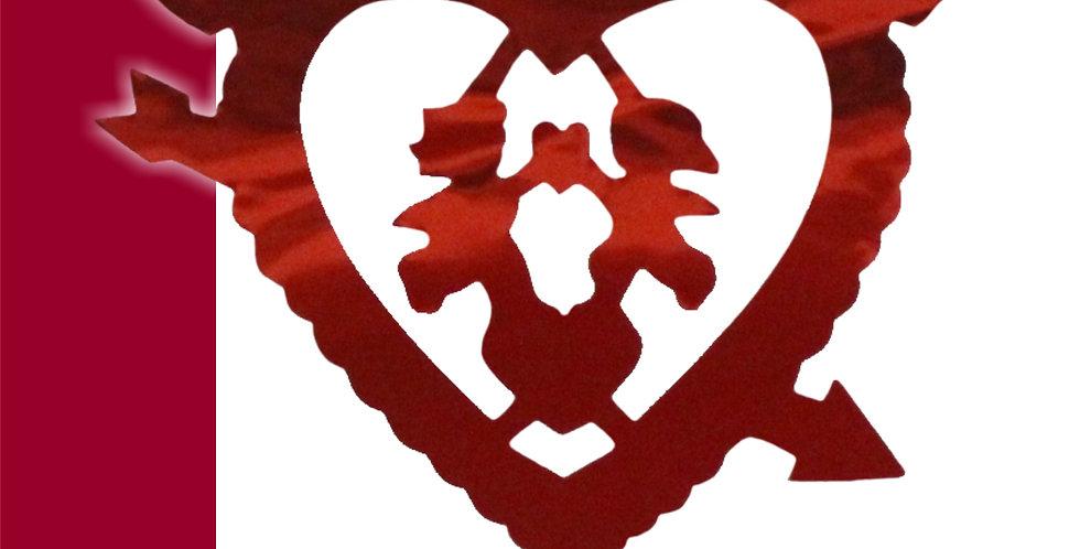 Guía metálica corazón con flecha