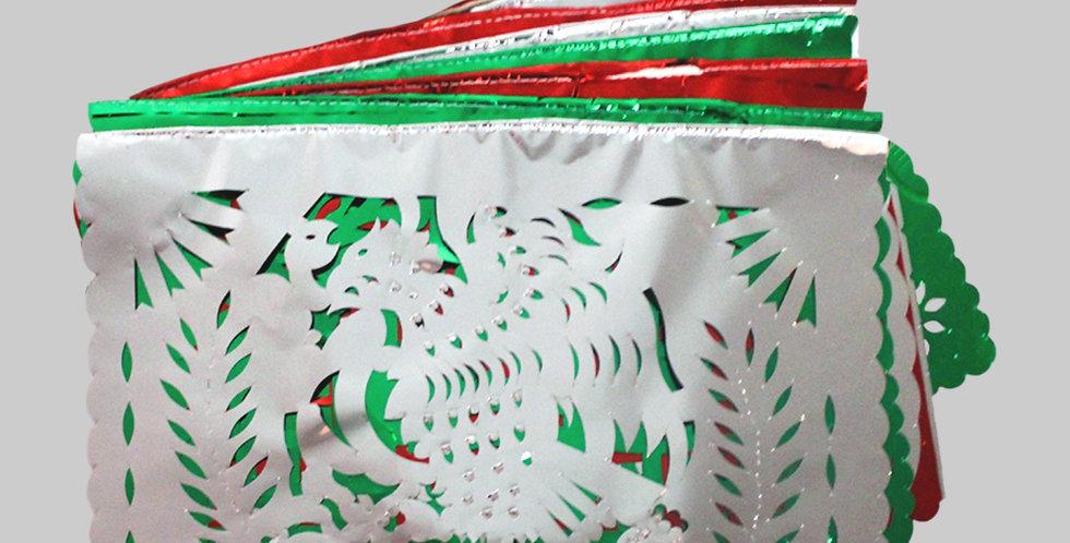 Enramada tricolor 1/2 papel metálico
