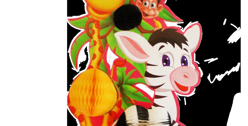 Jirafa con zebra