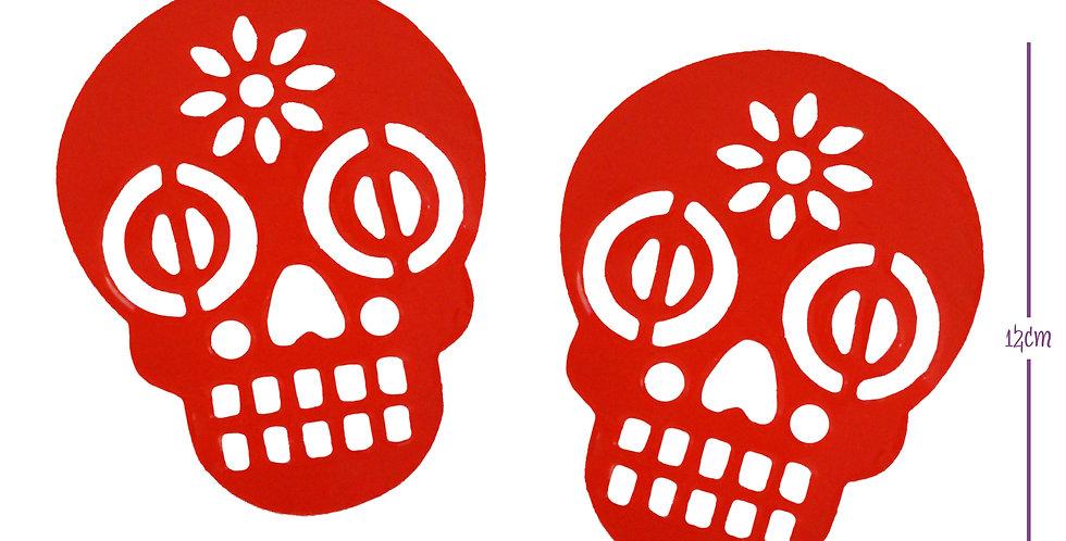 Sticker adhesivo cráneo