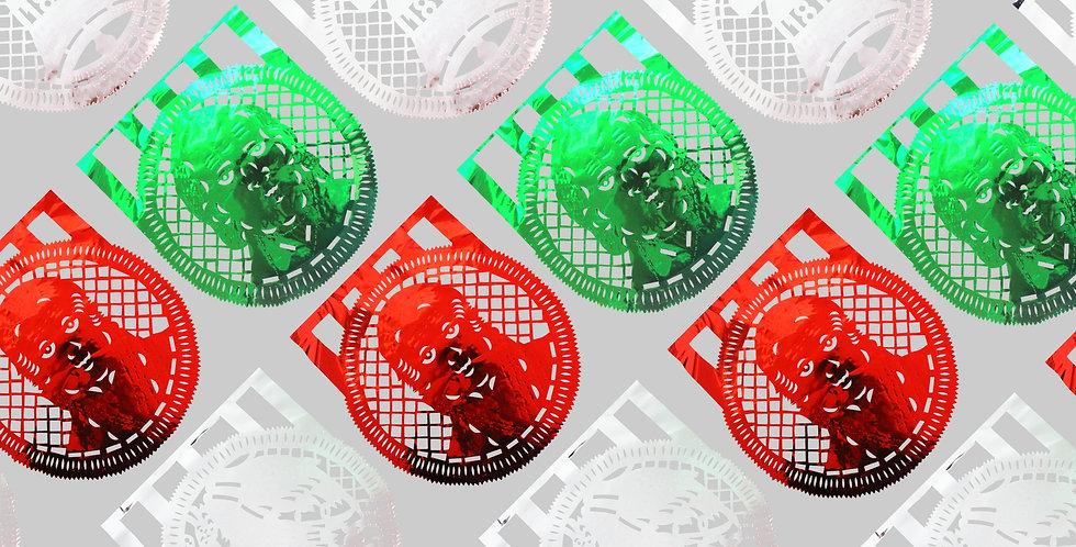 Enramada monedas papel metálico - Papel china - Plástico