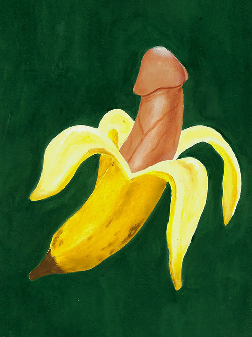 'Knight and Shining Banana' Print