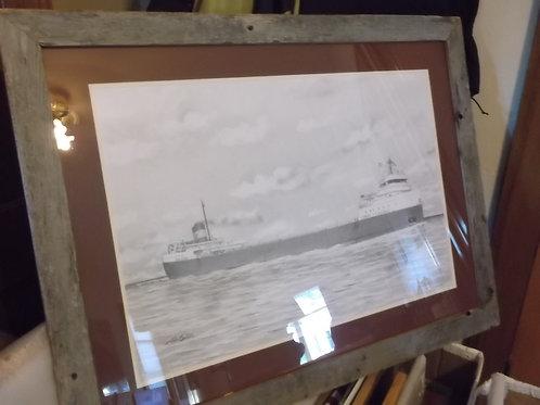 Framed Original Edmund Fitzgerald