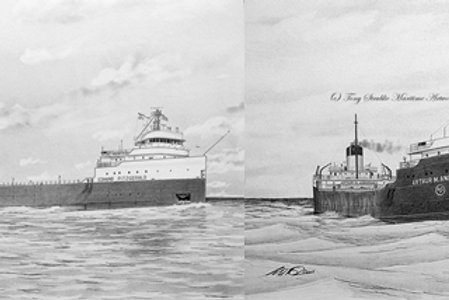 COMBO 8 x 10 Edmund Fitzgerald and Arthur M. Anderson Package