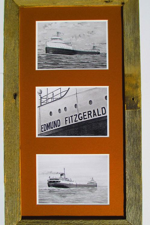 Edmund Fitzgerald 3 Print Collage