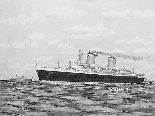 SPECIAL EDITION! 12 X 16  SS United States Print