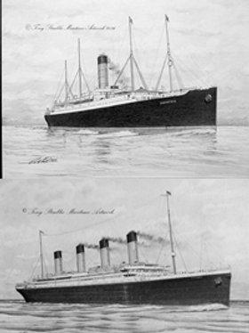 COMBO 12 x 16 Titanic & Carpathia