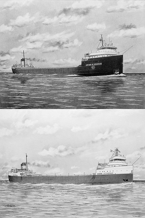 12 x 16 Edmund Fitzgerald & Arthur M. Anderson Package