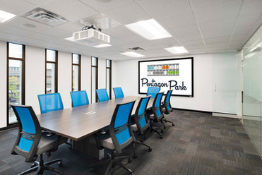 Shared Tenant Conference Room with Colorful, Functional Furniture