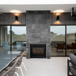 Sundeck with Interior/Exterior Electric Fireplace and Soft Seating