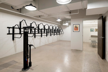Shared Tenant Bike Storage and Tire Pump