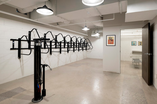 Shared Tenant Bike Storage and Tire Pump
