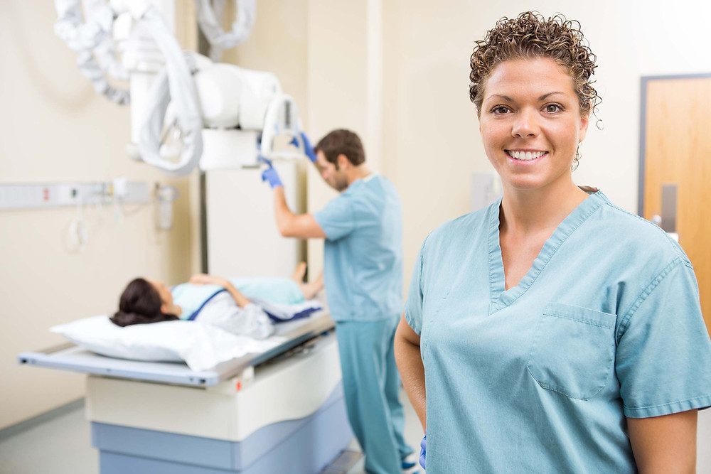 Patient Care Technician working in medical setting