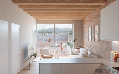 Apartment restoration in the centre of Manresa, Barcelona.