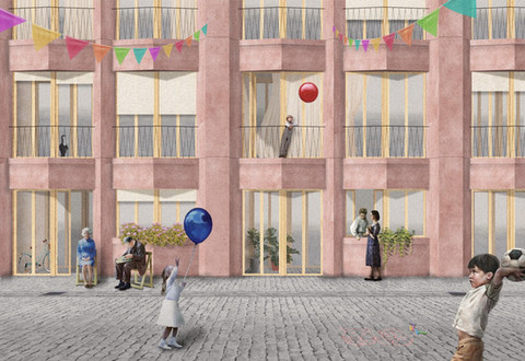 Community for Arts and Living. Project in Poblenou. 2020.