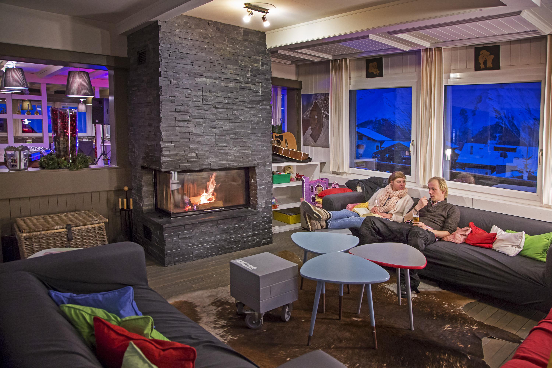 Lounge mit Cheminee