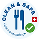 Clean and Safe Campaign for Restaurants who are part of Hotelleriesuisse supported by Switzerland Tourism