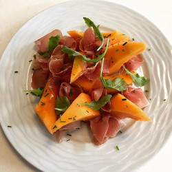 Melon with local Dry Cured Ham