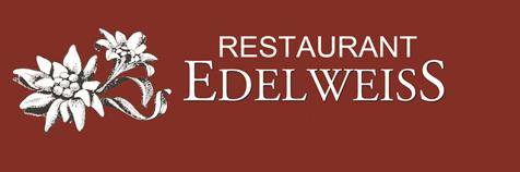 Restaurant Edelweiss Logo for Restaurant Edelweiss in Riederalp, Wallis.