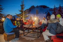 Aprés Ski on our Terrace