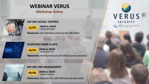 WEBINARS GRATUITOS - VERUS SECURITY