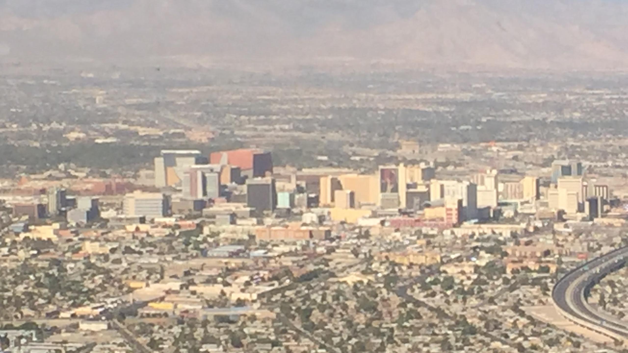 The Las Vegas strip!