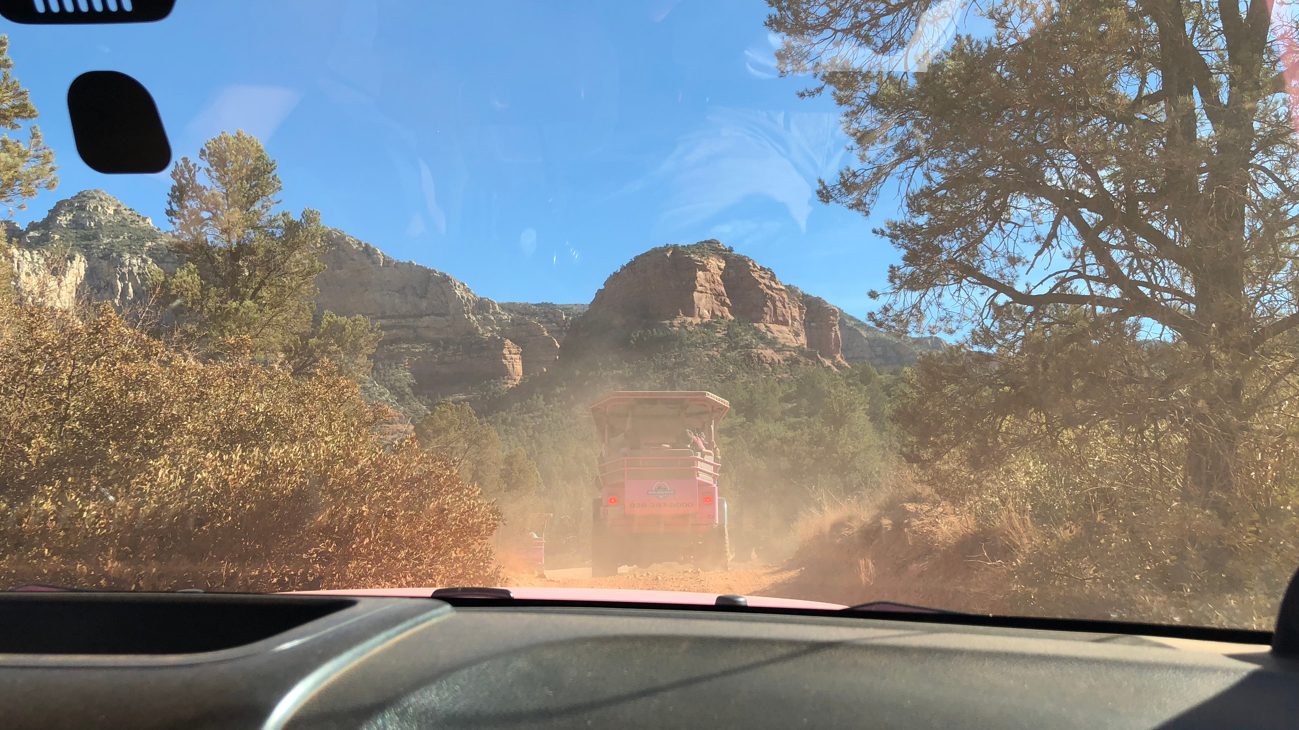 The Pink Jeep Tour in Sedona is very popular and was a blast!