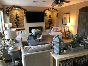 A nice Airbnb just outside of Phoenix around Christmas time.