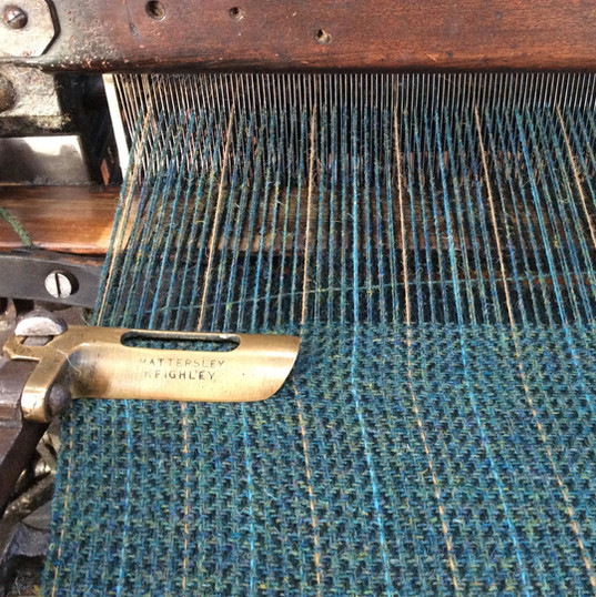 'Lapwing' on the loom.