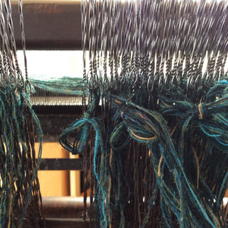 The warp for my 'Lapwing', waiting to be tiedon to the new warp.