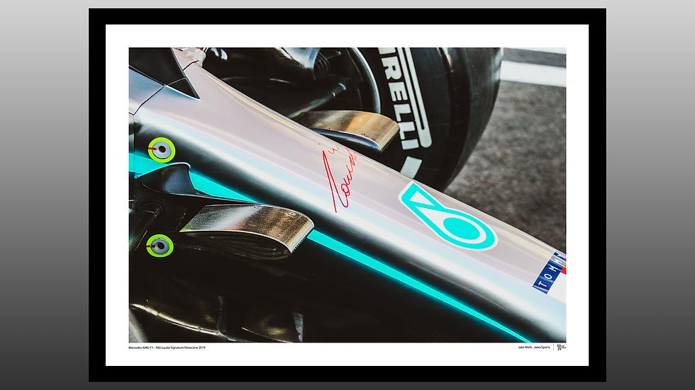 Mercedes Niki Lauda Signature Nosecone 2019