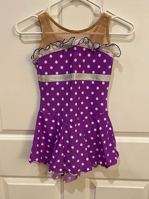 Purple and white polka dot - Freida B - Child L