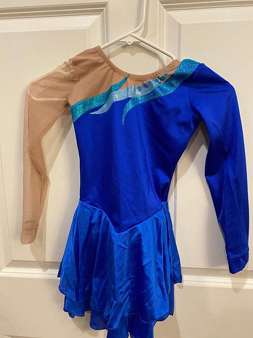 Blue - Freida B Skating Dress - Child XL