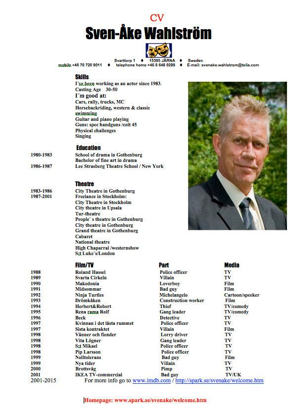Sven-åke Wahlström, actor, skådespelare