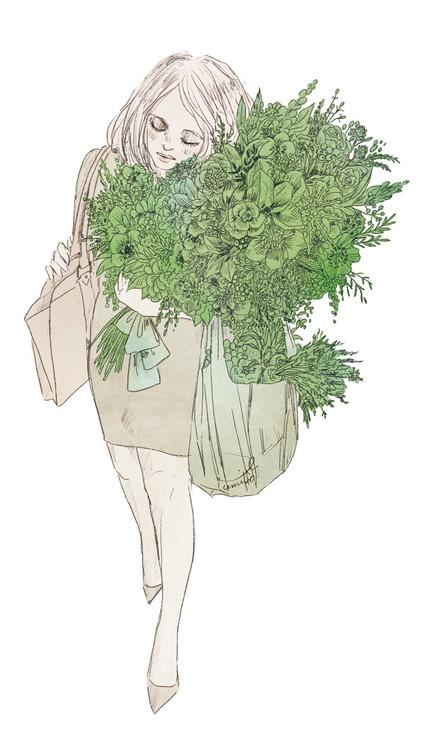 VERY5月号クリスウェブ佳子さんコラム 考えない男 挿絵