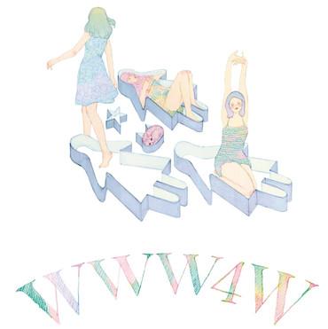 VERY11月号クリスウェブ佳子さんコラム WWW4W 挿絵