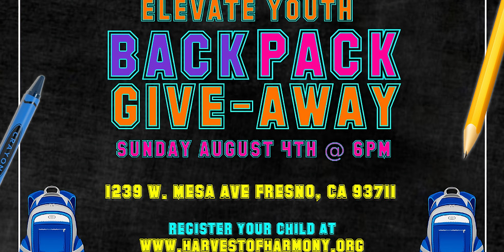 Elevate Youth Backpack Giveaway