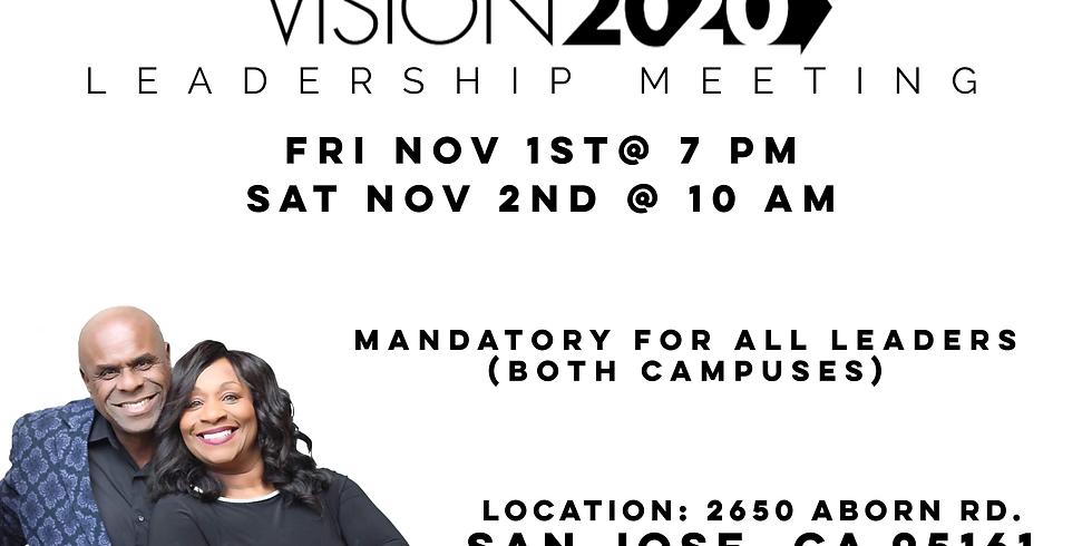 Vision 2020 Leadership Meeting