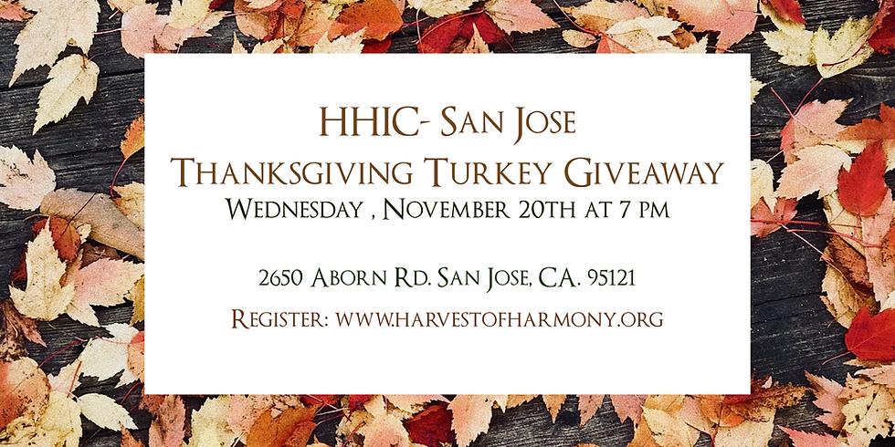 San Jose Turkey Giveaway