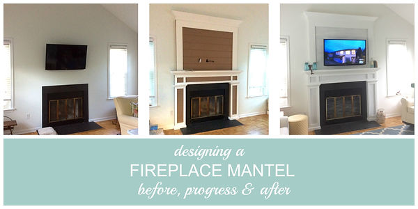 Fireplace mantel with shiplap