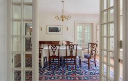 Simplified dining room