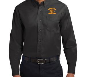 BLACK MENS DRESS SHIRT S608 BLK