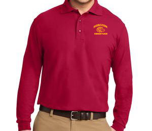 RED MEN'S LONG SLEEVE POLO K500LS RED
