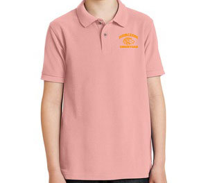 LIGHT PINK YOUTH POLO Y500 LT PNK