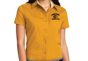 LADIES GOLD SHORT SLEEVE DRESS SHIRT L508 GLD