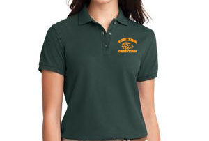DARK GREEN LADIES POLO L500 DRK GRN