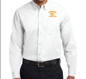 WHITE MENS DRESS SHIRT S608 WHT