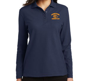 NAVY LADIES LONG SLEEVE POLO L500LS NVY