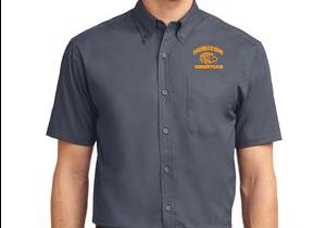 STEEL GRAY MENS SHORT SLEEVE DRESS SHIRT S508 SGRY
